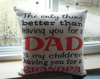 Pillow - Dad Grandpa