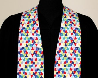"""Clergy Stole, Prism #173, Pastor Stole, Minister Stole, Multi-Colors, 54"""" Length, Pastor Gift, Vestments, Church"""