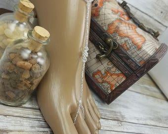 Foot Jewelry Barefoot Sandals Beach Sandals Wedding Crystal Bridal Foot Jewelry Barefoot Sandals Beach Jewelry