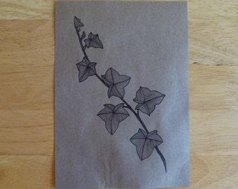 Paper Bag Print - Ivy 5x7 Digital Art Print
