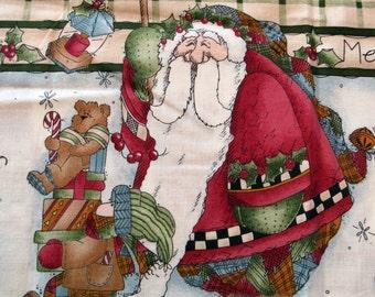Fat Quarter «Rapide comme un clin d'oeil» joyeux Noël père Noël garçon fille ours oiseau en tissu présente traineau canne double bordure-Rebecca Carter SSI - POO