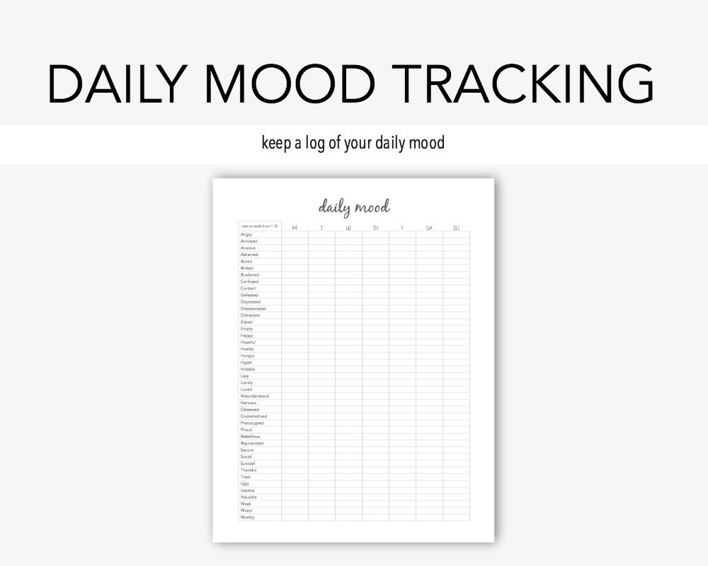 worksheet Printable Mental Health Worksheets daily mood mental health depression anxiety therapy