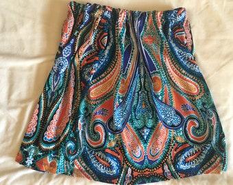 Girls Paisley Skirt