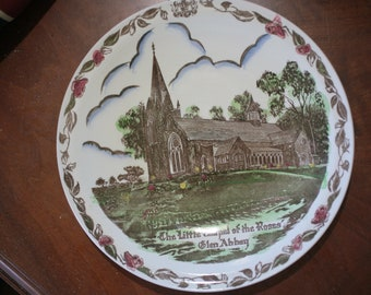 1950s The Little Chapel Of The Roses Commemorative Plate