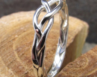 Braided Argentium Sterling Silver Woman's Ring