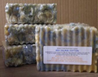 Sea Island Cotton - Beeswax & Honey Soap - Large 5-6oz. Each