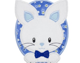 Bunny patch - Bunny applique - Baby bunny patch - bunny iron on patch - Easter bunny patch - Easter iron on - Iron on patch - appliqué