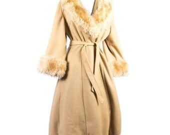 Vintage 1970s Penny Lane Princess Coat (Faux Fur)