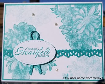 Handmade Any Occasion Card, Stampin' Up! HEARTFELT BLOOMS,