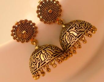 jhumka earrings etsy