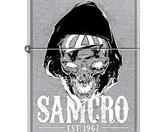Sons Of Anarchy Samcro Hooded Skull Zippo Lighter