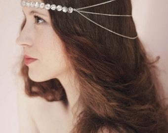 Head Chain Accessories,Hair Chain Headpiece,Bohemian Hair Chain,Chain Headpiece Jewelry,Head Chain Hair Jewelry,Crystal Forehead Hair Chain
