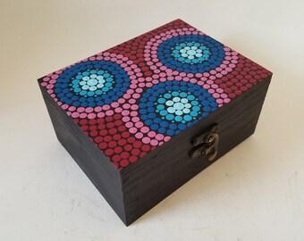 Handpainted Aboriginal painting inspiration box