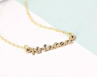 Stylized Custom Name Necklace • Dainty Name Necklace • Personalized Name Necklace • Stylized font style • Bridal Jewelry
