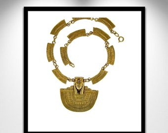 ISIS Egyptian Pectoral Necklace _ Egyptian Pectoral Isis necklace