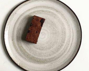 Black clay ceramic plates
