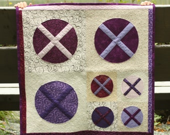 """Mini Quilt """"X Marks the Spot"""""""