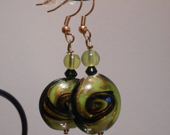 Green Glass Swirl Bead Item No. 58