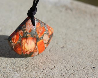 "Jasper necklace""shield"" - Jasper - child necklace """