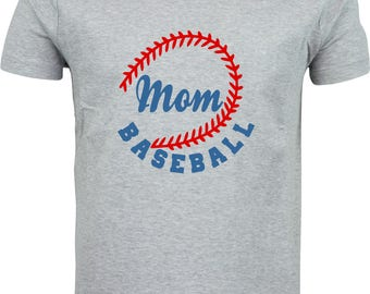 Baseball mom  funny humour gift full color sublimation t shirt