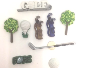 Golf Push Pins or Thumb Tacks x8, Cubicle Dorm Decor, Gift for Dad, Gift Under 10, Sports Magnets, Father's Day