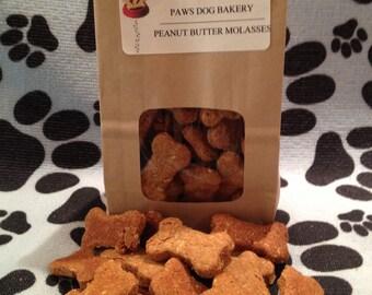 Peanut Butter & Molasses Dog Treats - 100%  All Natural, Healthy and No Preservatives.