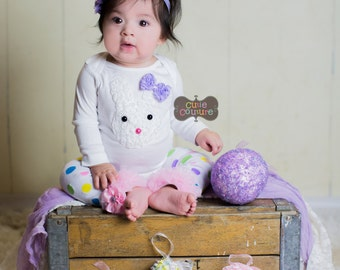 SALE-Boutique Style-Easter Outfit-Baby Outfit-First Easter-Easter Photo Prop-Newborn Girl-1st Easter Outfit-Baby Girl Easter-Easter Top-Baby