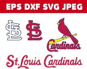 St Louis Cardinals logo in SVG / Eps / Dxf / Jpg files INSTANT DOWNLOAD!