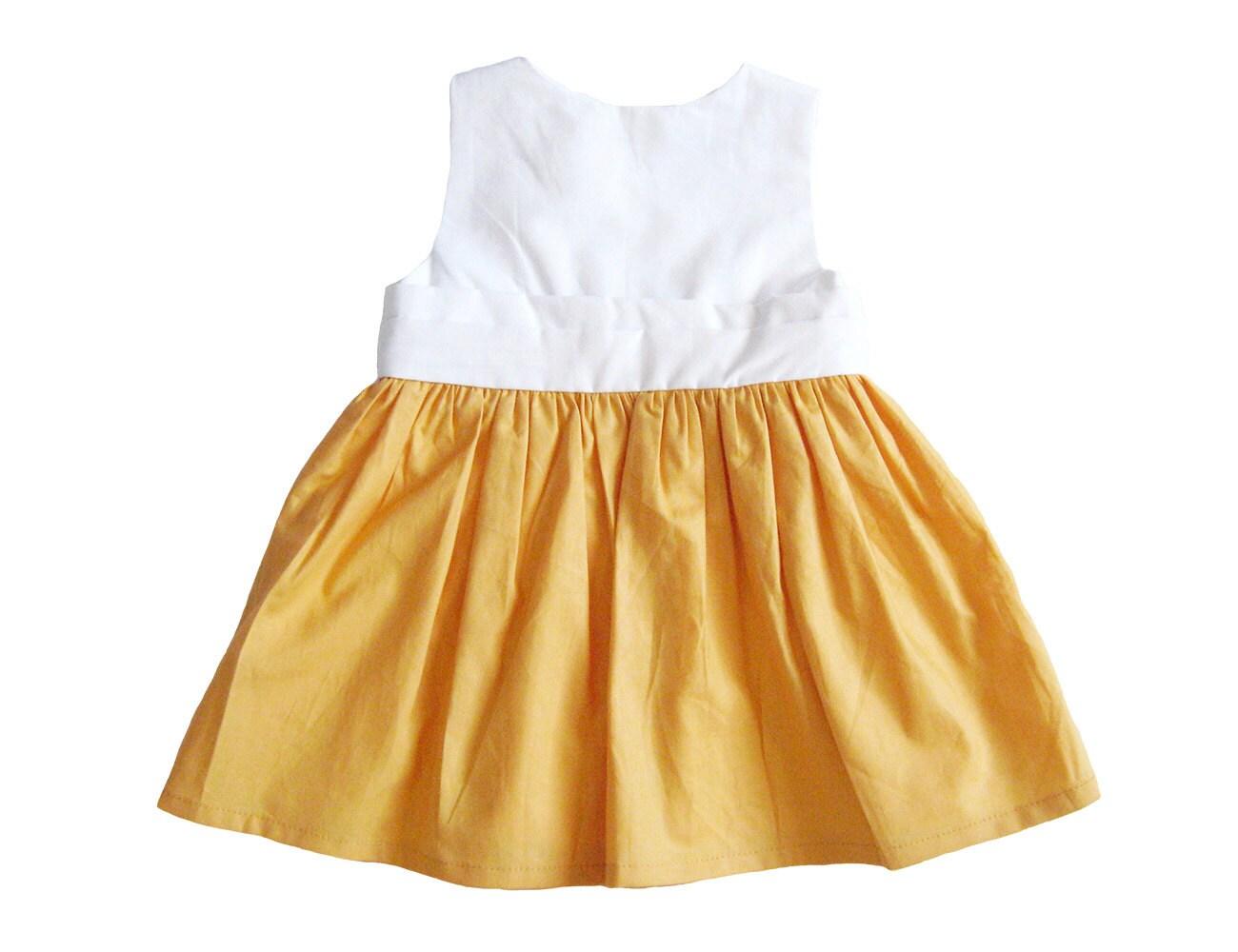 Lilium Baby Dress Yellow And White Baby Dress Baby Girl