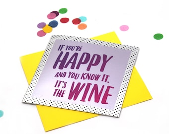 Funny wine card, Wine lover card, Funny friend birthday card, Sister Birthday Card, Funny Birthday Card, Wine Card, Mum Birthday Card