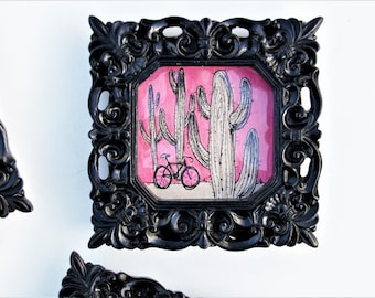 Tiny Art for your Tiny Hip Home on Wheels / Bicycle MTB Southwest