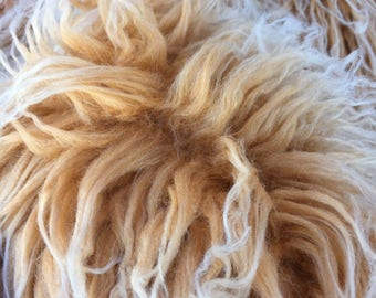 BUTTERUM YETI - Frosted Mongolian Curly Faux Fur - Full METRE piece (140 x 100)