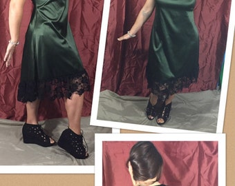 1920's Olive Party Dress