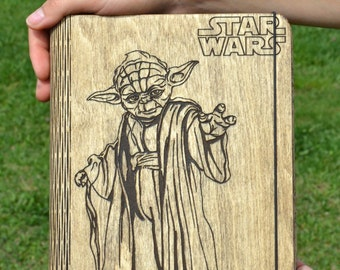 Boyfriend Star Wars Gift Notebook Yoda Custom Journal Personalized Diary Custom Sketchbook Mother's Day Gift for Brother Him Best Friend