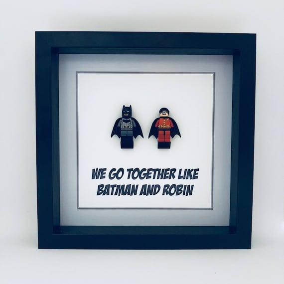 "Batman And Robin ""We Go Together"" Minifigure Frame"