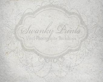 NEW 5ft x 5ft Vinyl Photography Backdrop / Cement Texture / Gray