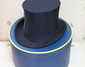 Brooks Brothers Vintage Silk Top Hat - collapsible!  - plus Hat Box