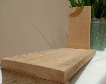 "Wooden Shelf ""Books/DVD/CD"""