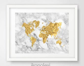 gold world map poster gold world map art gold world map print gold map world download world map gold gold marble housewarming gift