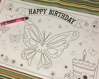 BUTTERFLY-Kids activity placemat- Digital file only