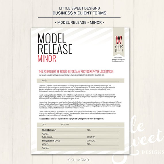 Model Release Template. Photography Model Release Form Minor Photoshop  Template . Model Release Template. Photography Model Release Form ...