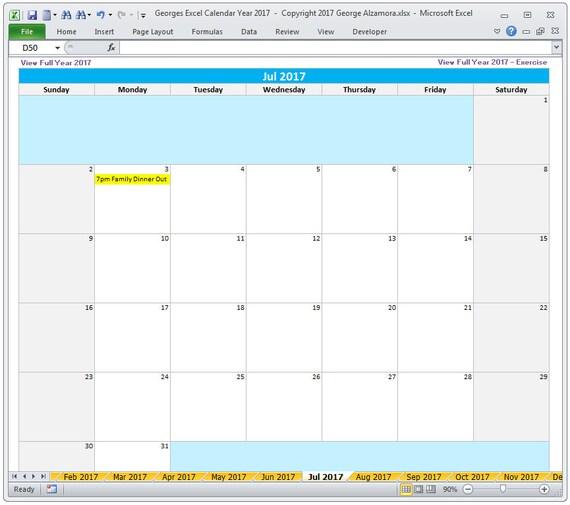 Fantastisch Monatliche Workout Kalendervorlage Galerie ...