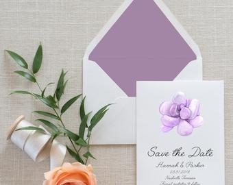 Succulent Save the Date, Flat Card, Postcard | Deposit