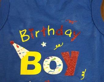 Birthday Boy Dog t-shirt/puppy t-shirt