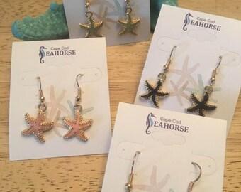 Starfish Earrings,Coastal Earrings, Beach Jewelry,Starfish,Sealife Earrings