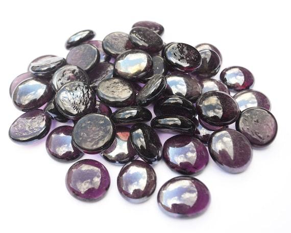 Purple Glass Pebbles Home Vases Wedding