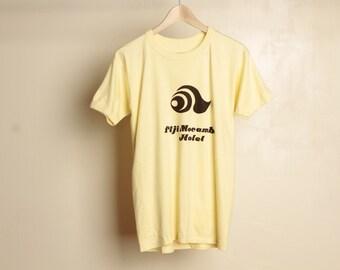 vintage FIJI mid century YELLOW faded super soft 60s 70s t-shirt