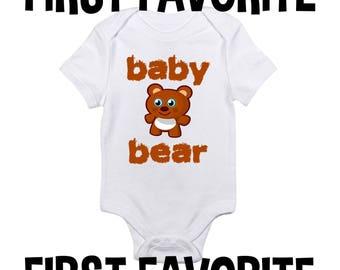 Ours de bébé grenouillère Body chemise douche cadeau infantile drôle mignon Unique nouveau-né - 24M grossesse faire-part de naissance révèlent emporter plus jeune
