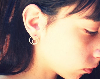 Orbit Earrings-sterling silver