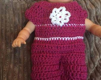 12 inch doll onesie